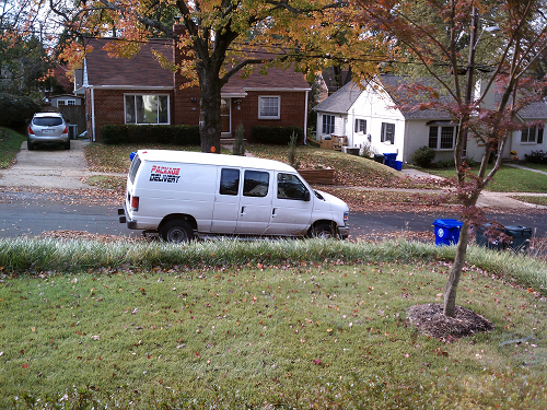 'Real Or Fake Package Delivery Van?' (http://goo.gl/KRkuee) by Isaac Wedin (http://goo.gl/6jRLyU) is licensed by CC BY 4.0 (http://creativecommons.org/licenses/by/4.0/)