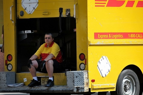 """""""DHL On The Streets of NYC"""" (http://goo.gl/ttzNxD) by FaceMePLS (http://goo.gl/0oRJGr) is licensed under CC BY 4.0 (http://creativecommons.org/licenses/by/4.0/)"""