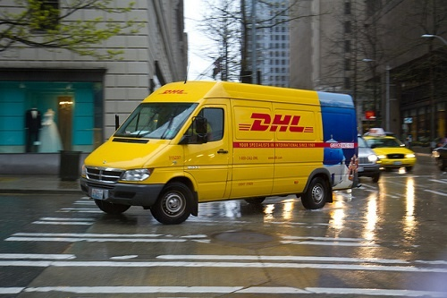 """DHL Van"" (http://goo.gl/XVNFKI) by Atomic Taco (http://goo.gl/SMHGPd) is licensed under CC BY 4.0 (http://creativecommons.org/licenses/by/4.0/)"