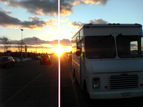 sunset delivery truck by Jon Rawlinson is licenced under CC BY 2.0